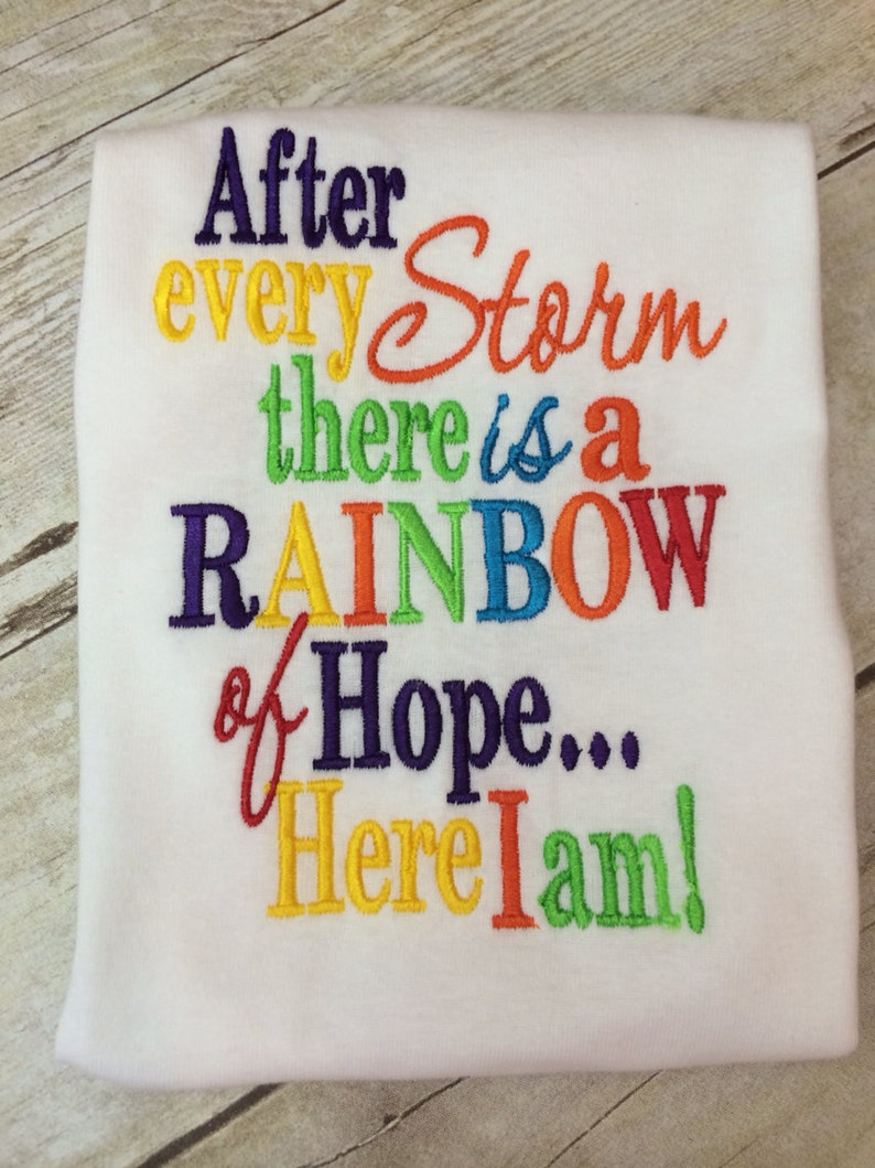 Rainbow Baby Shirt: Rainbow Baby Outfit Bodysuit Or Shirt And Matching Ruffle