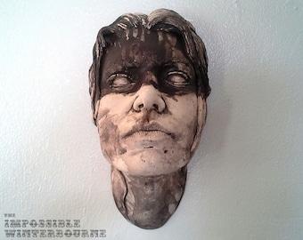 Siren Face Sculpture - Stone Finish - Tribal 1