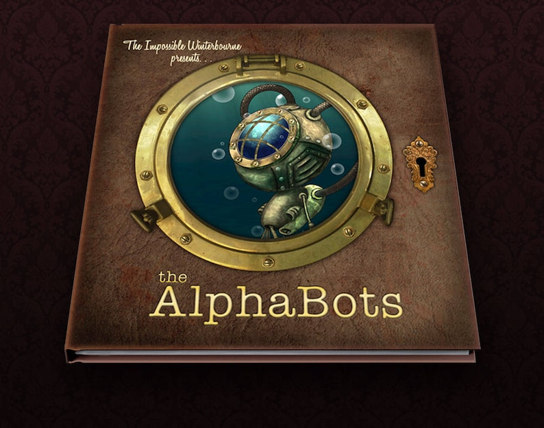Robot picture book  The AlphaBots a steampunk image 0