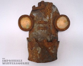 SteamBot Face - Rusting Steel Finish