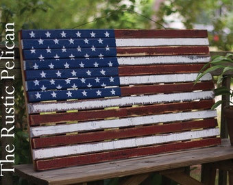 Flag -American Flag - Rustic American Flag - Wooden American Flag - Farmhouse - American Flag - Farmhouse American Flag - Barn wood -Rustic