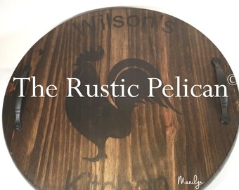 Wine Barrel Lazy Susan Personalized Hand Painted Wall Etsy
