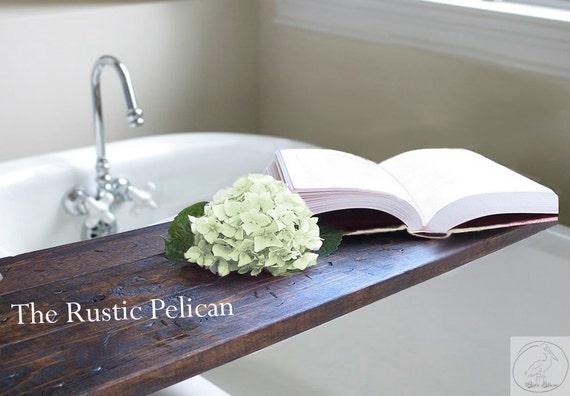 Rustic Bathtub Caddy Wood bath tray Rustic Bathtub Caddy | Etsy