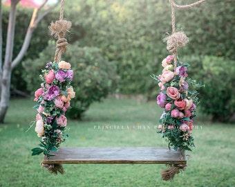 Rustic Swing - Swing - Tree Swing - Wood Swing - Farm House Swing - Barnwood style - Children - Kids - Girls- Boys -Rustic - Childrens Swing