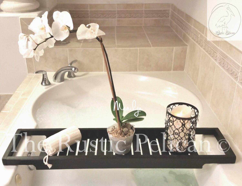 Bath Tray Bathroom Bath Shower Caddy Spa Shower Shelves Reclaimed Wood Caddy Bathroom Shelves Bathroom Storage Tray