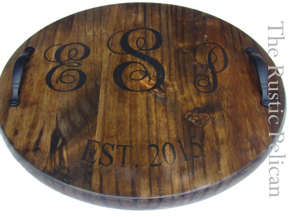 Wine Barrel Personalized Monogram Lazy Susan Wood Wine | Etsy