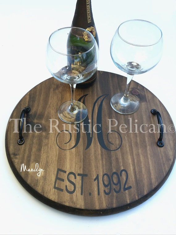 Free Shipping Wine Barrel Lazy Susan Personalized Etsy
