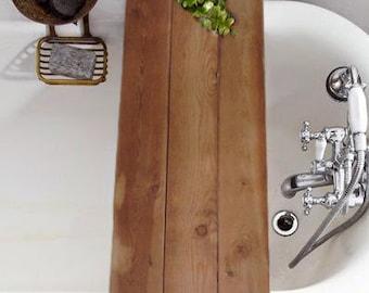 Rustic Bathtub Tray -Rustic Tub Caddy - Wood Bathtub Tray - Bathtub Tray -Vintage Tray -Tub Tray -Barn Wood Style -Farmhouse -Cottage Chic