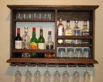 Charmant Mini Bar Espresso Stain, Wine Rack, Minimalist Style Bar, Liquor Cabinet
