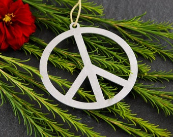 Peace sign ornament | Etsy