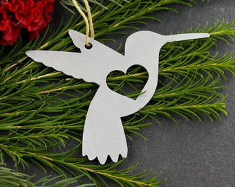 Hummingbird Metal Animal Ornament Custom Gift for Her Him Personalize   Wedding Favor Souvenir  Decor Christmas HolidayStocking Stuffer