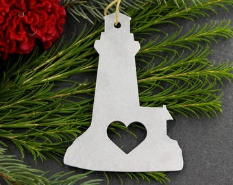 lighthouse metal sailing ornament custom gift for her him personalize stamping engraving wedding favor souvenir fall decor christmas holiday - Christmas Lighthouse Decorations