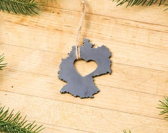 Germany Country Love Metal Christmas Ornament Custom Gift for Her Him Personalized Travel Deutschland Home Holiday Decor Beer Father's Day