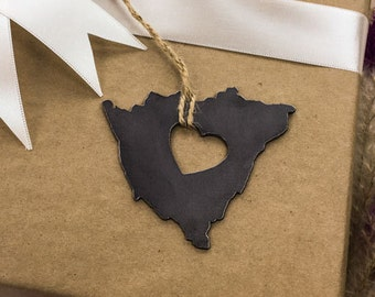 Heart Nicaragua  Country Steel Ornament Travel Memento Gift for Her Him Wedding Favor  Souvenir Fall Decor Father's Day Father's Day
