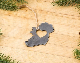 Heart Ireland  Ornament Steel Decoration Travel Memento Fall Decor   Irish Wedding Gift for Her for Him Father's Day Father's Day