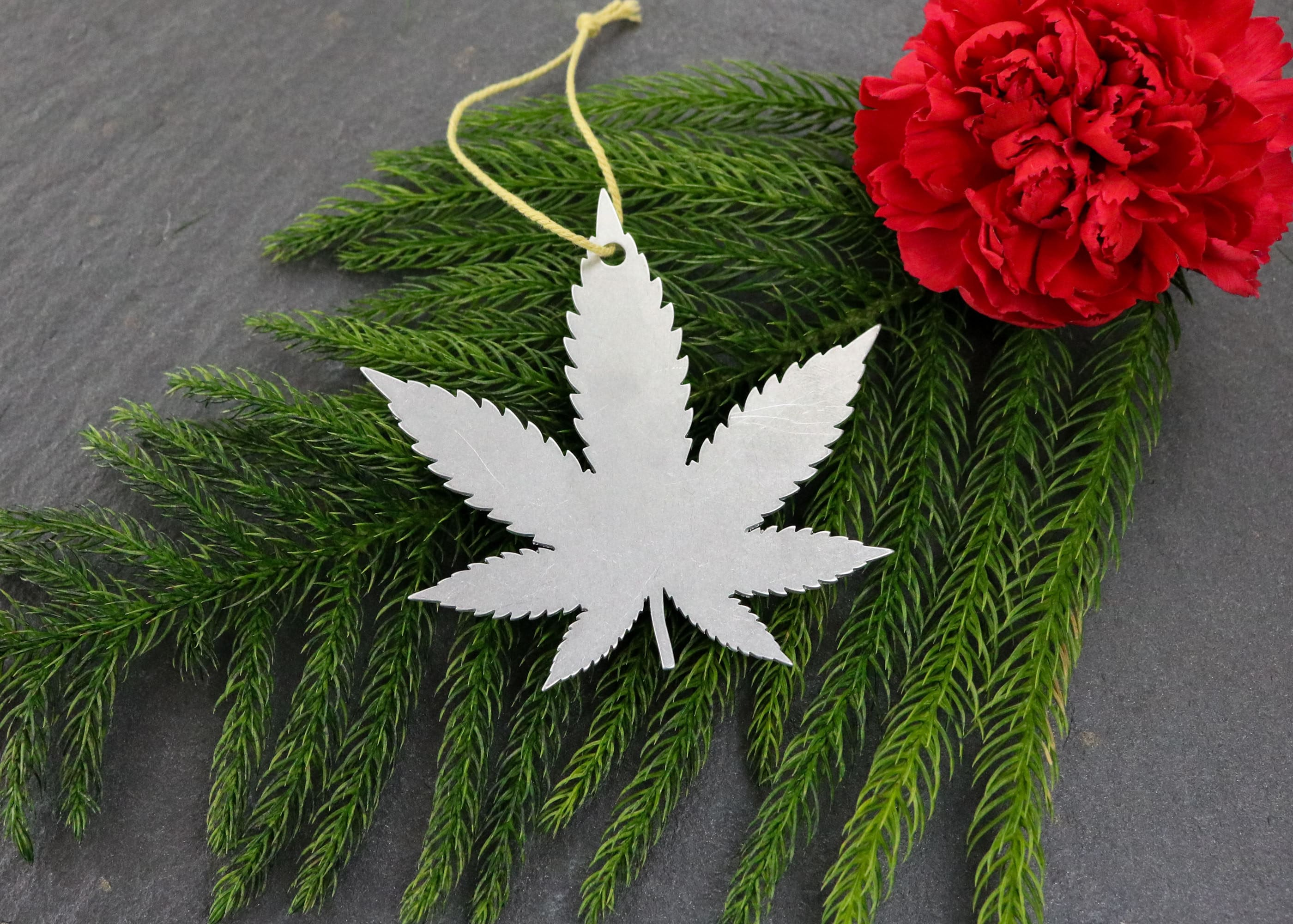 Weed Metal Cannabis Christmas Ornament Custom Gift for Her ...