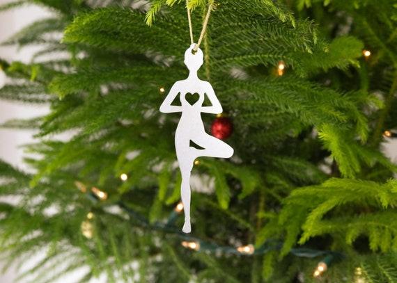 Yoga Holiday Christmas Ornament