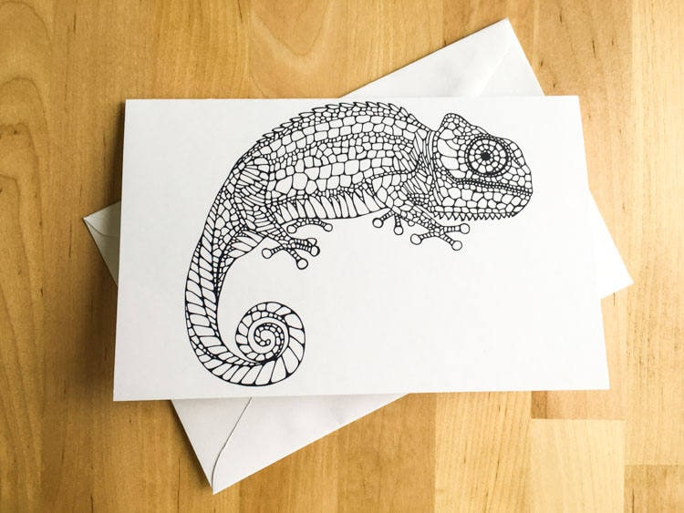Iguana lizard animal coloring card diy art kids crafts paint do it iguana lizard animal coloring card diy art kids crafts paint do it yourself christmas card fall decor meditation relax therapy gift for her solutioingenieria Gallery