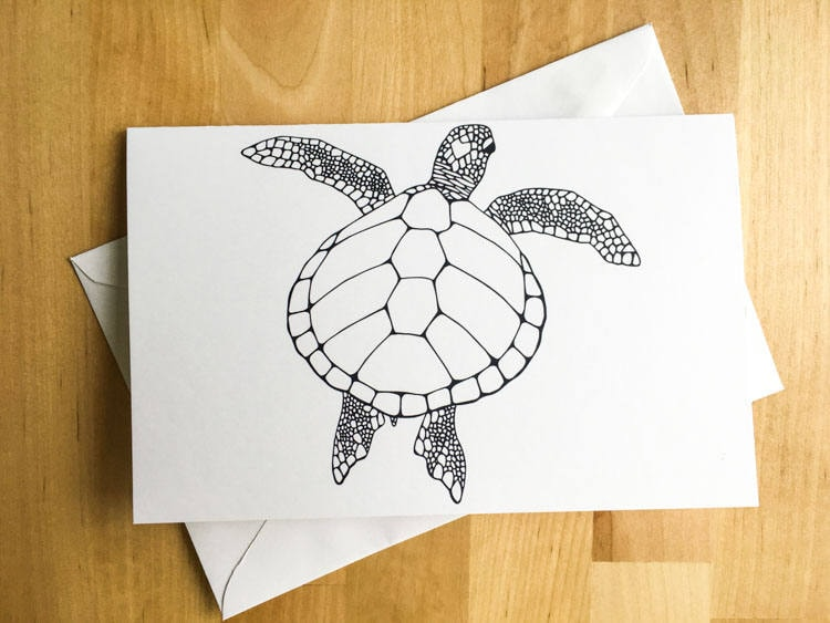 Turtle animal coloring card diy art kids crafts paint do it yourself turtle animal coloring card diy art kids crafts paint do it yourself christmas card fall decor meditation relax therapy gift for her solutioingenieria Choice Image