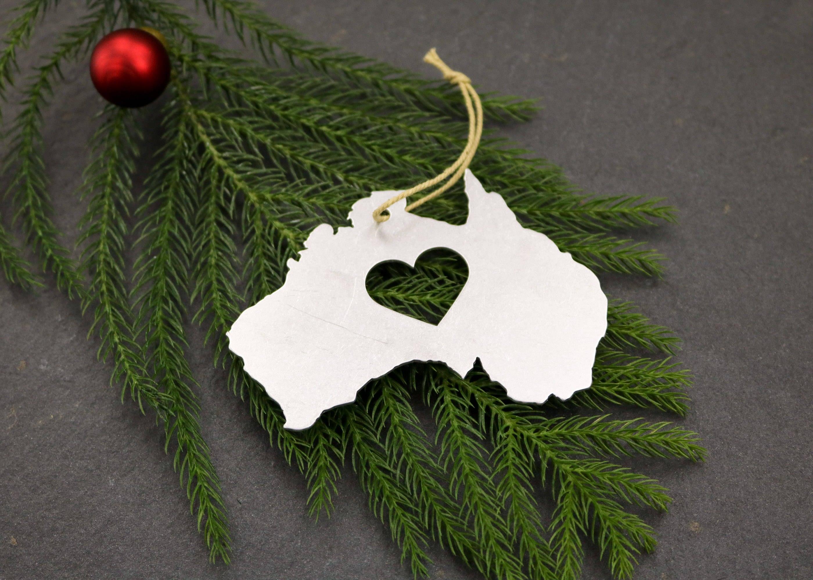 Australia Metal Country Ornament Custom Gift for Her Him ...