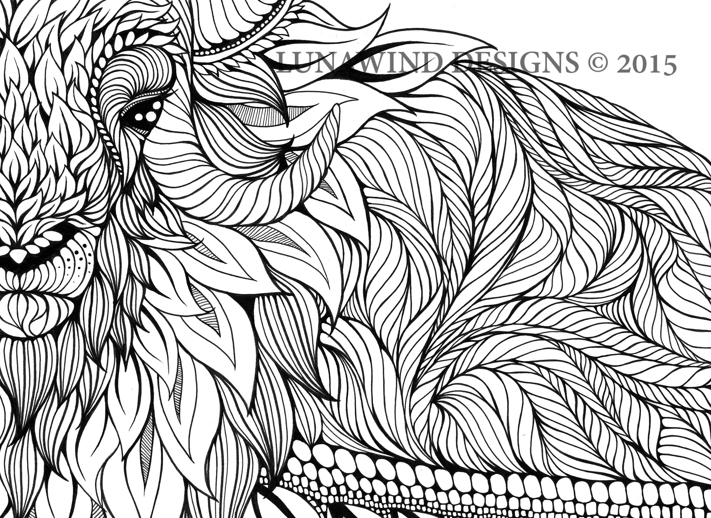 Yak Muskox Animal Artwork Coloring Nursery Design Children Art Zentangle Printable Instant Digital Download Page Adult