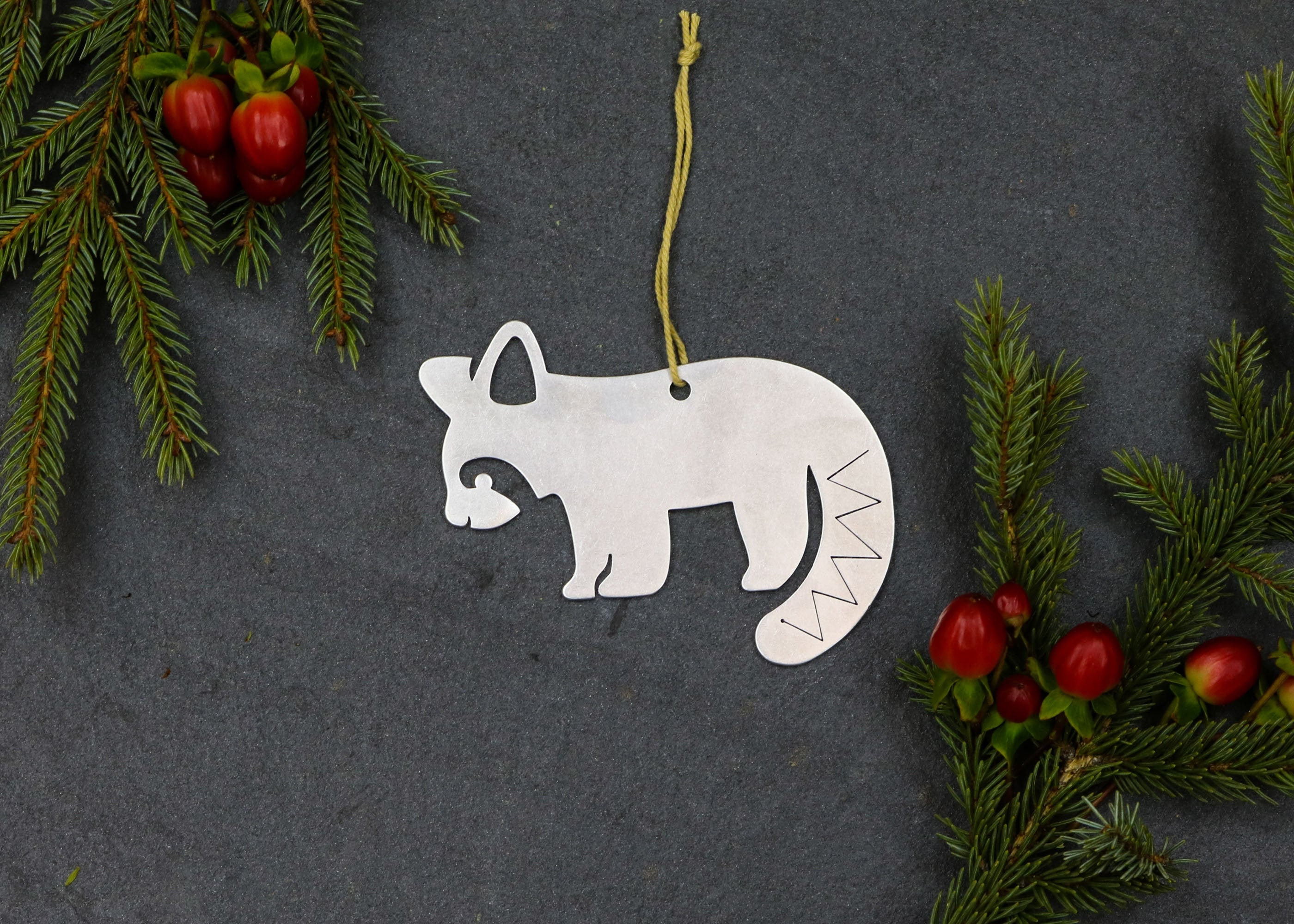 Red Panda Raccoon Christmas Ornament Custom Gift For Her Him Personalized Wedding Favor Asia Wildlife Zoo Home Holiday Decor Thanksgiving