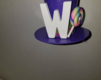 Willy Wonka inspired mini top hat ornament