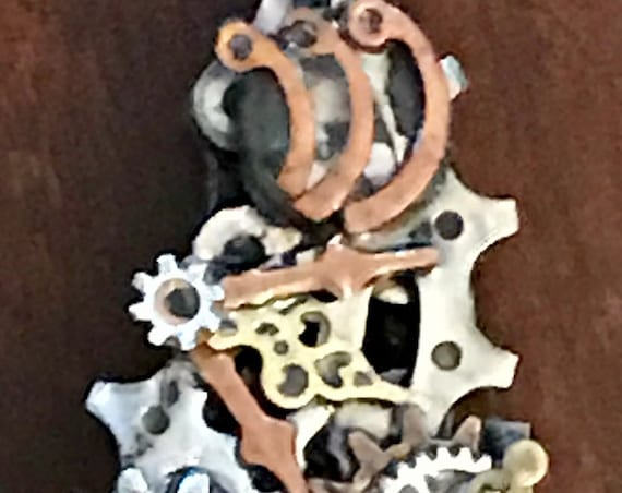Reclaimed Bicycle Parts Steampunk Mezuzah
