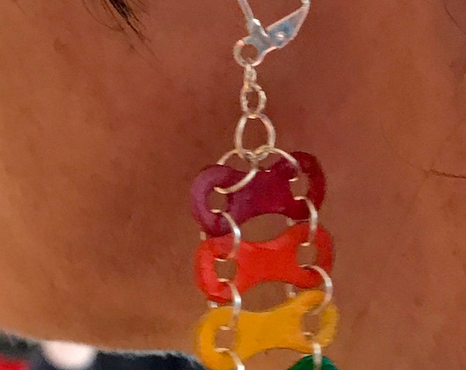 LGBTQ Pride Bicycle Chain earings