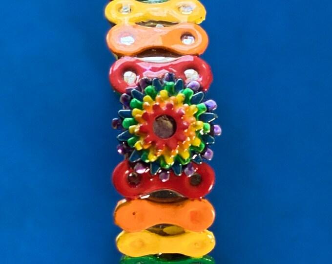 LGBTQ pride bike chain bracelet