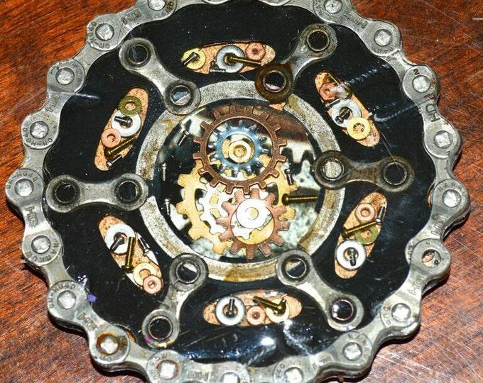 Bike gear coaster, rocker drink coaster