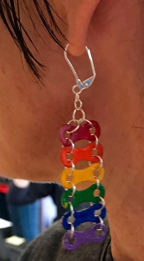 LGBTQ Pride Bicycle Chain earings