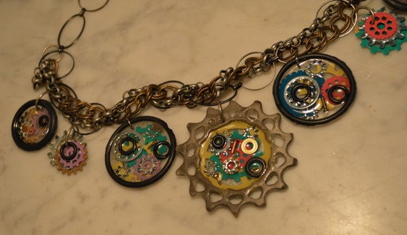 Exclusive Steampunk Cog Necklace