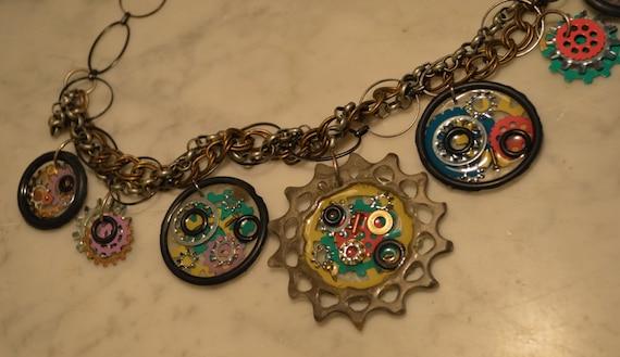 Exclusive Steampunk Cog Necklace
