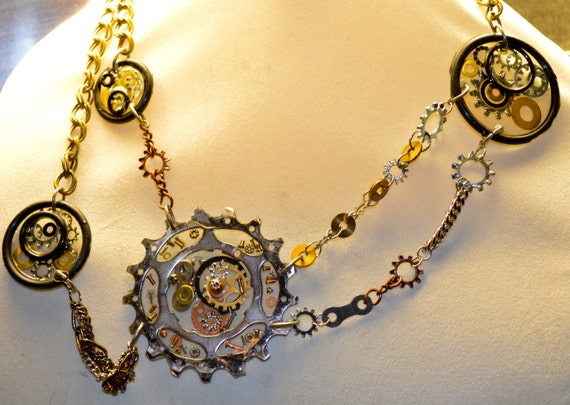 Upcycled BICYCLE COG one-of-a-kind necklace