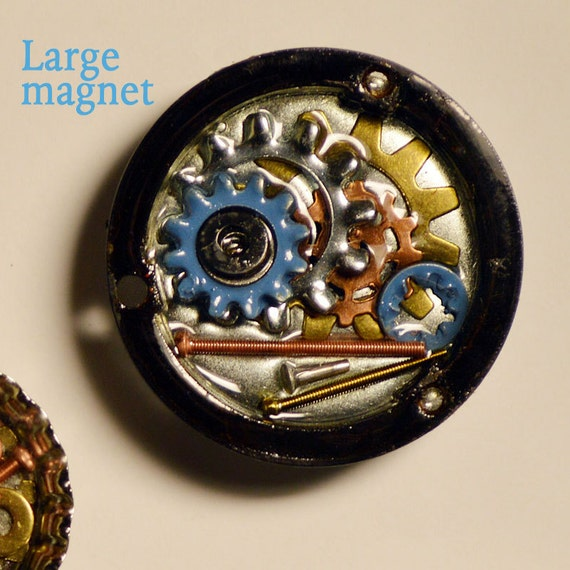 Blue bicycle gear magnet, hardware magnet, large magnet