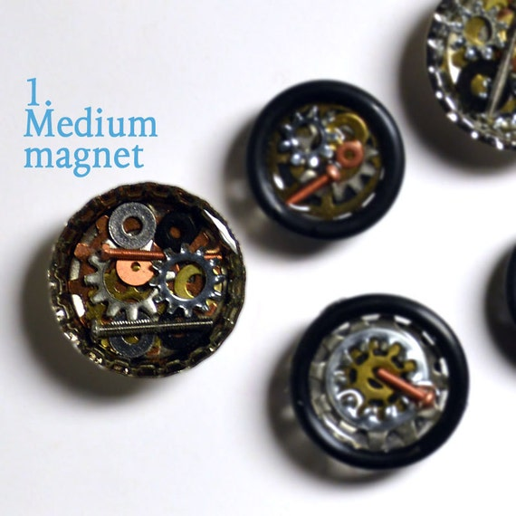Bicycle gear magnets, hardware, bottle cap magnet, medium magnet