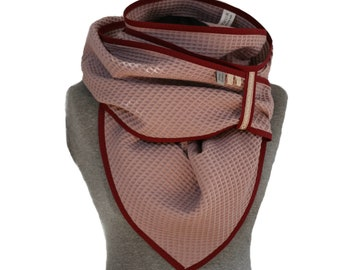 Old Pink Triangle Scarf, Pink Waffle Lpique, Giant Cloth, XXL, Cotton Scarf, Neck Scarf, PiqueTuch