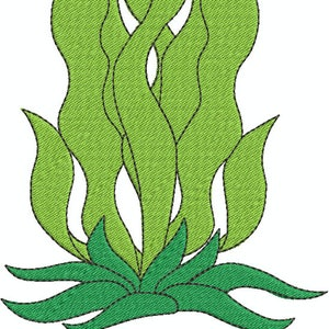 Seaweed Fill Sea Ocean Nautical Machine Embroidery Design 304