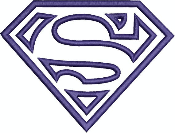 Superhero S Shield Superman Supergirl Applique Embroidery Design Machine Embroidery Design 359