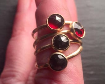 Simple Stacking Memorial Rings for Hair or Pet Ashes