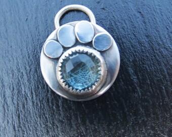 Dog Paw Reliquary Memorial Pendant for Fur or Pet Cremains