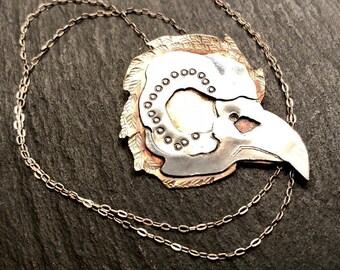 Everybirdie Dies Bird Skull Necklace