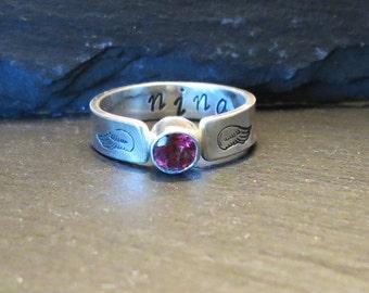 Nina Memorial Pet Ash Ring EXAMPLE ONLY