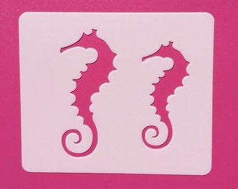 Seahorse Reusable Stencil, Seahorse Template, Craft Stencil, Wall Stencil, Seahorse, Painting Stencil, Stenciling