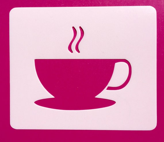 Cup Stencil Mylar Template Coffee