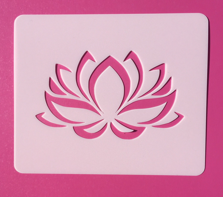 Lotus flower stencil reusable stencil namaste lotus stencil etsy zoom izmirmasajfo