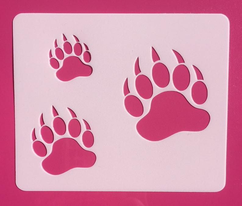 Bear Paw, Bear Paw 3 sizes, Reusable, Craft Stencil, Painting Stencil,  Stenciling, Mylar, Stencil, Bear Paws Stencil, Template