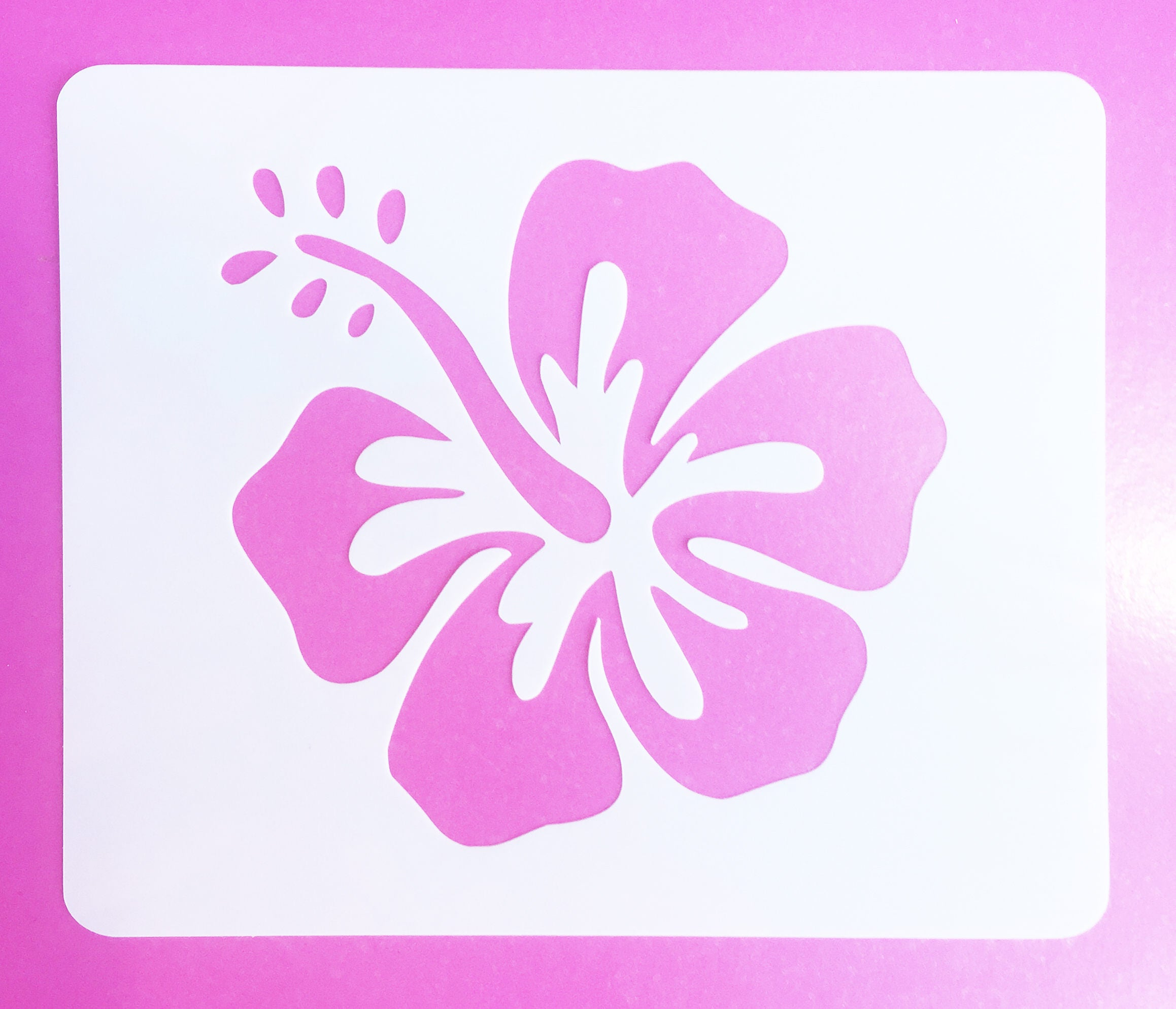 Hibiscus stencil mylar reusable hibiscus craft stencil etsy 50 izmirmasajfo