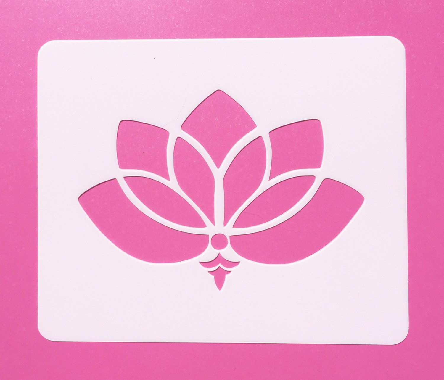 Reusable Mylar Lotus Flower Mylar Stencil Lotus Flower Etsy